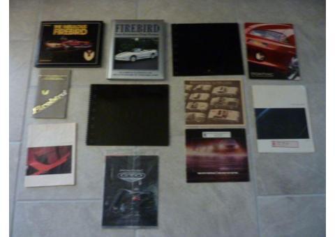Pontiac Firebird Books, Firebird owners manual, Firebird Sales Brochures